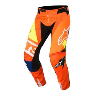 Calzones de MX Alpinestars Techstar Factory MX - Orange Fluo, Blue, White and Yellow Fluo