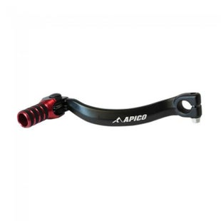 Apico Gear Pedal Elite Honda CR125 87 Gear Lever - 07 Black Red