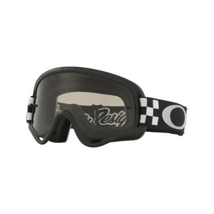 Oakley XS O FrameTroy Lee Designs Checker Black White Motocross Goggles - Dark Grey Lens