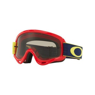 Oakley XS O FrameKickstart Red Yellow Motocross Goggles - Red Yellow Dark Grey Lens