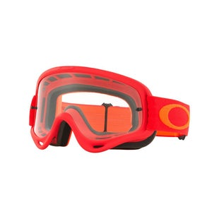 Oakley O FrameFlo Red Orange Motocross Goggles - Clear Lens