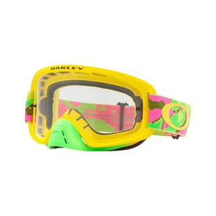 Oakley O Frame 20 Thermo Camo Pink Yellow Green Motocross Goggles - Clear Lens