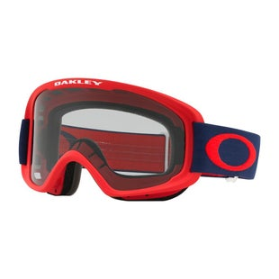 Oakley O Frame 20 Red Navy Motocross Goggles - Black Ice Iridium and Clear Lens