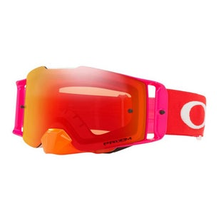 Oakley Front LinePinned Race Red Orange Motocross Goggles - Prizm Torch Iridium Lens