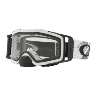 Oakley Front LineMatte White Motocross Goggles - Clear Lens