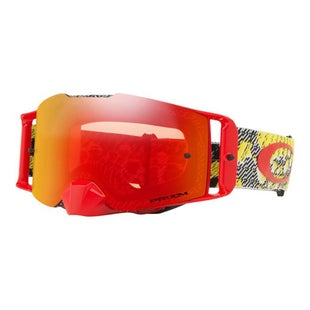 Oakley FRONT LINE GOGGLES DAZZLE DYNO RED Motocross Goggles - PRIZM TORCH IRIDIUM LENS