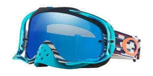 Oakley CrowbarTroy Lee Designs Code Red White Blue Motocross Goggles - Black Ice Iridium Lens