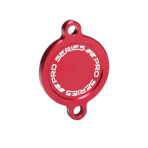 RFX Pro Oil Filter Cover Kawasaki KXF450 16On Oil Filter Cover - Red