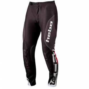 Hebo Pant Tech Large MX Hosen - Black Red