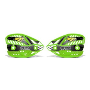 Cycra Ultra Pro Bend Upper Shield Replacement MX Handguard Spares - Green