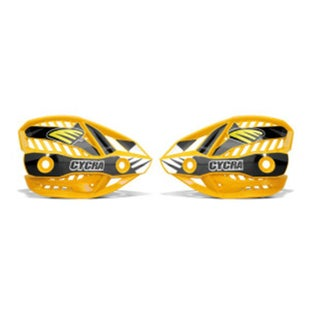Cycra Ultra Pro Bend Upper Shield Replacement MX Handguard Spares - Husqvarna Yellow