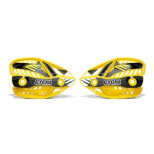 Cycra Ultra Pro Bend Upper Shield Replacement MX Handguard Spares - Yellow