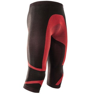 Acerbis Motocross XBody Pants Summer Technical Undergear Protective Shorts - Black Red