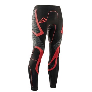 Acerbis Motocross XBody Pants Winter Technical Undergear Body Protection - Black Red