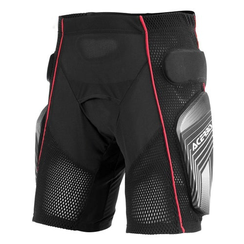 Acerbis Soft 20 Riding Shorts Motocross Protective Shorts - Black Red