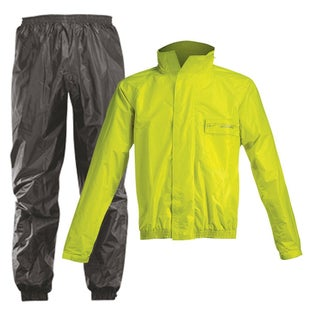 Acerbis Waterproof Rain Suit Set Pants and Jacket - Black Fluo Yellow