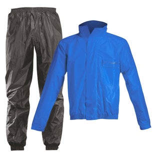 Acerbis Waterproof Rain Suit Set Pants and Jacket - Black Blue