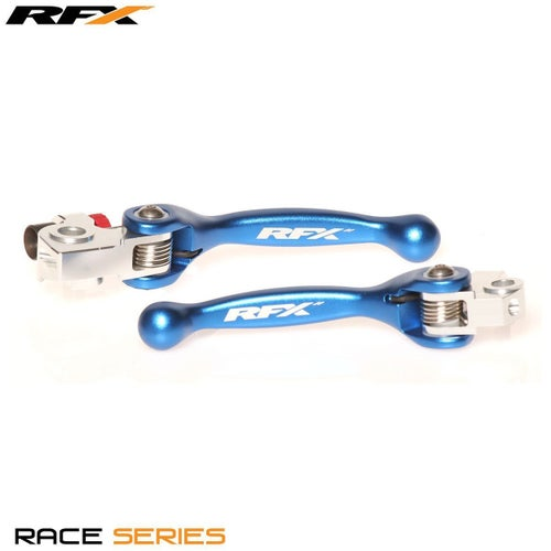 RFX Race Series Forged Flexible Lever Set TM 125 250 250FI 450FI 02 Flexi Lever Set - Blue
