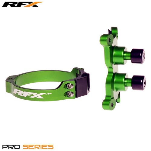 RFX Pro Series 2 L Control Dual Button Kawasaki KXF250 450 0617 Holeshot Launch Control - Green