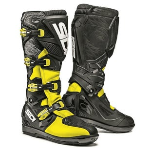 Sidi X3 Xtreme SRS Motocross and Enduro Boots Motocross Boots - Black Flou Yellow