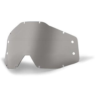 100 Percent Forecast Replacement Lens No Bumps MX Goggle Spares - Smoke