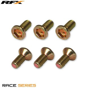 RFX Kit Front Yamaha 125450 02 Brake Disc Bolt - Gold