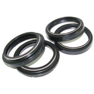 All Balls Fork Seal Kit Honda CR80 80 , Fork And Dust Seal Kit - Black