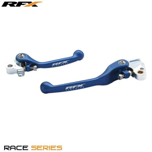 RFX Race Forged Flexible Lever Set Kawasaki KXF250 450 1314 Flexi Lever Set - Blue