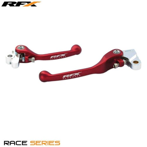 RFX Race Forged Flexible Lever Set Yamaha YZF450 0914 , Flexi Lever Set - Red