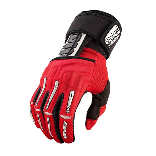 EVS Adult Wrister Glove Wrist Brace Pair Motocross Gloves - Red