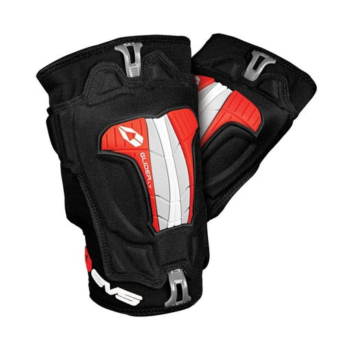EVS Adult Glider Lite Knee Guards Pair Knee Protection - Black Red