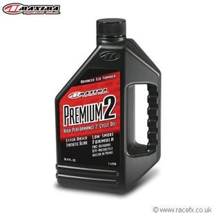 Maxima 2T Premium 2 Ester Synthetic SAE 20w 1 Litre Engine Oil - Clear