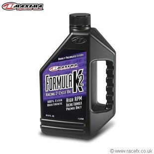 Maxima 2T Formula K2 100 Ester Synthetic SAE 40w 1 Litre Engine Oil - Clear