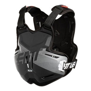 Leatt 25 ROX MX Motocross and Enduro Chest Protector Torso Protection - Black Brushed