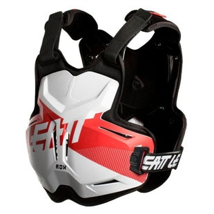 Leatt 25 ROX MX Motocross and Enduro Chest Protector Torso Protection - White Red
