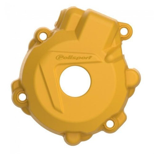 Polisport Plastics Ignition Cover Protector KTM EXCF250 1416 Ignition Protector - Yellow