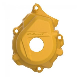 Polisport Plastics Ignition Cover Protector Husqvarna FC250 350 1617 Ignition Protector - Yellow