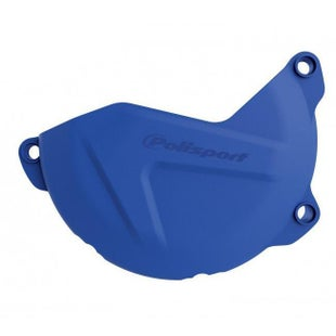 Polisport Plastics Clutch Cover Protector Husqvarna FE 450 Ignition Protector - Blue