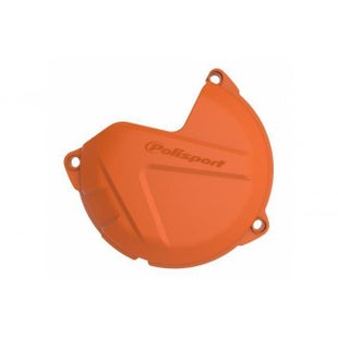 Polisport Plastics Clutch Cover Protector Husqvarna FE 450 Ignition Protector - Orange