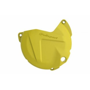 Polisport Plastics Clutch Cover Protector Husqvarna FE450 Ignition Protector - Yellow