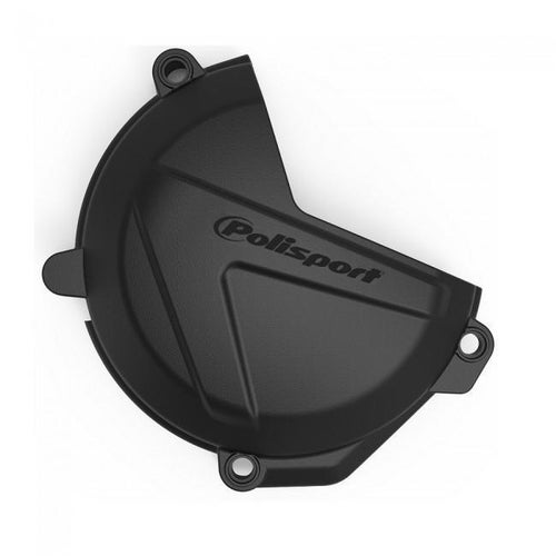Polisport Plastics Clutch Cover Protector Husqvarna FE450 Ignition Protector - Black