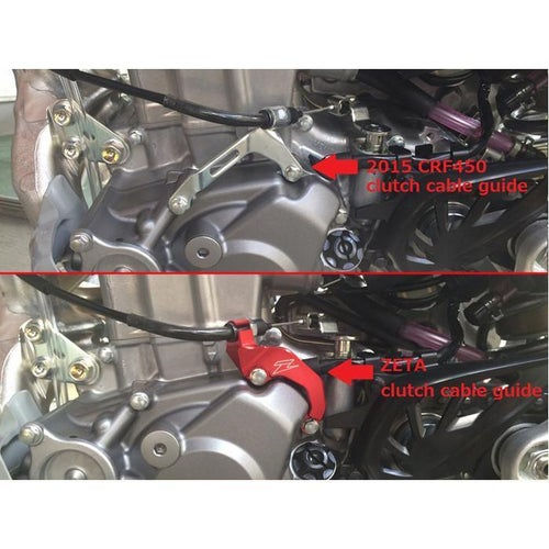 Zeta Clutch Cable Guide Honda CRF450R 1516 Cable Guide - Red
