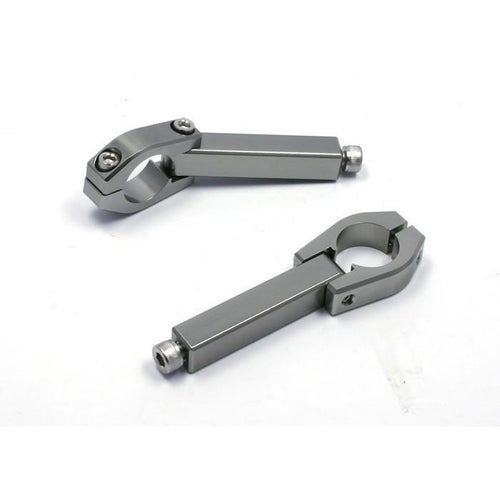 Zeta Armor Replacement Clamps for 286 mm Bars Long MX Hand Guard - Silver