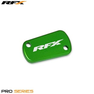 RFX Pro Rear Brake Res Cap Kawasaki KX KXF 0317 Clutch Cover - Green
