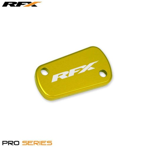 RFX Pro Rear Brake Res Cap Kawasaki KX KXF 0317 Clutch Cover - Yellow