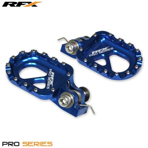 RFX Pro CNC Aluminium Trials Footrest Universal Gas Gas , Foot Peg - Blue