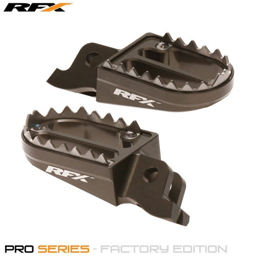 RFX Pro Series Shark Teeth Footrests Kawasaki KXF450 0717 , Foot Peg - Hard Anodised