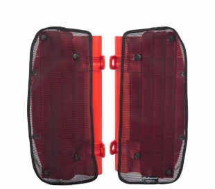 Polisport Plastics Mesh Covers For Rad Louvres Honda CRF250R 10 Radiator Louver - Red
