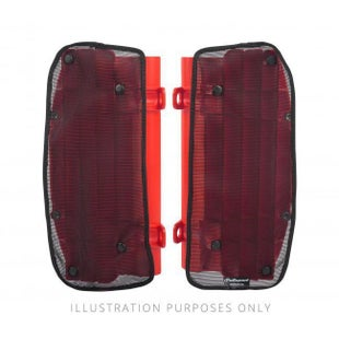 Polisport Plastics Mesh Covers For Rad Louvres Honda CRF450R 09 Radiator Louver - Red