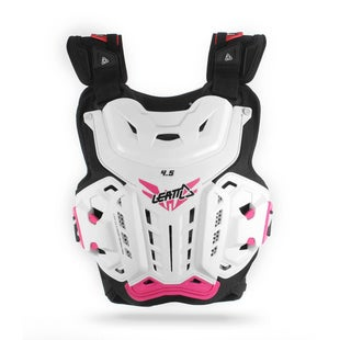 Leatt Womens MX Motocross and Enduro Chest Protector 45 Jacki Womens Torso Protection - White Pink